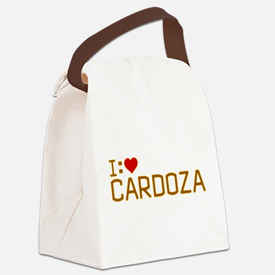 I Heart Cardoza Canvas Lunch Bag