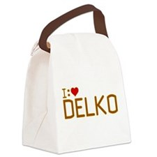 I Heart Delko Canvas Lunch Bag