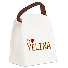 I Heart Yelina Canvas Lunch Bag