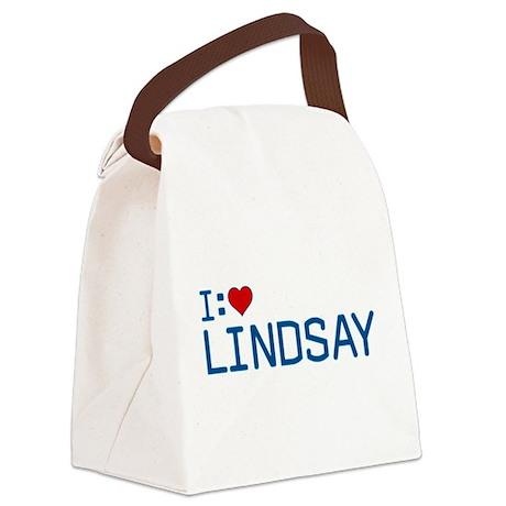 I Heart Lindsay Canvas Lunch Bag