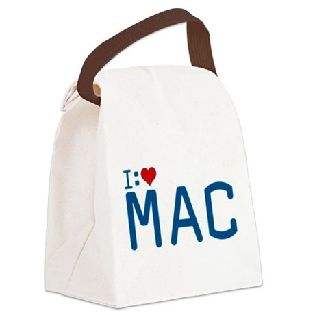 I Heart Mac Canvas Lunch Bag