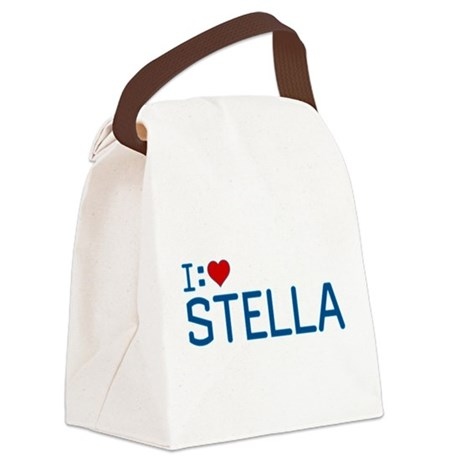 I Heart Stella Canvas Lunch Bag