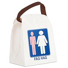 FAG HAG Sign Canvas Lunch Bag