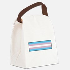 Transgender Pride Flag Canvas Lunch Bag