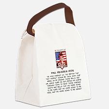 Sarah Palin - Paul Revere Canvas Lunch Bag