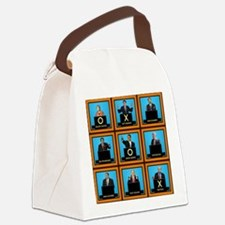 Presidential Squares Canvas Lunch Bag