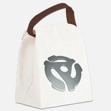 Silver 3D 45 RPM Adapter Canvas Lunch Bag