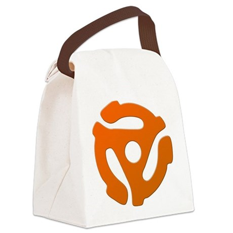 Orange 45 RPM Adapter Canvas Lunch Bag
