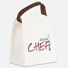 Red Sous Chef Canvas Lunch Bag