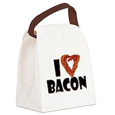 I Heart Bacon Canvas Lunch Bag