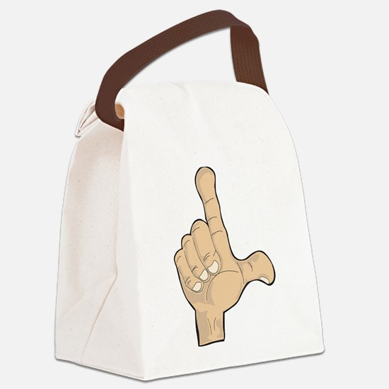 Hand - Loser Fingers Canvas Lunch Bag