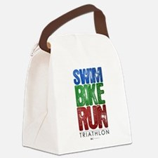Swim, Bike, Run - Triathlon Canvas Lunch Bag
