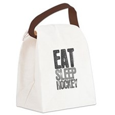 EAT SLEEP HOCKEY Canvas Lunch Bag