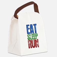EAT SLEEP RUN Canvas Lunch Bag