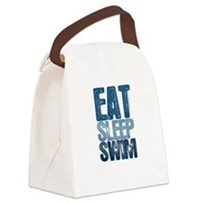 EAT SLEEP SWIM Canvas Lunch Bag