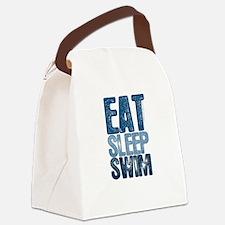 EAT SLEEP SWIM Canvas Lunch Bag