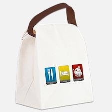Eat, Sleep, Goalie Canvas Lunch Bag
