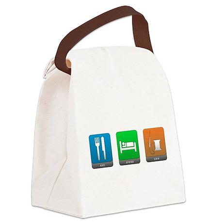 Eat, Sleep, Sew Canvas Lunch Bag