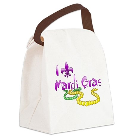 I Fleur-de-Lis Mardi Gras Canvas Lunch Bag