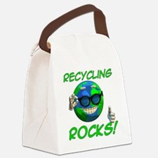 Recycling Rocks! Canvas Lunch Bag