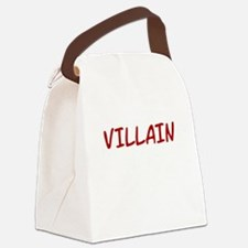 Red VILLAIN Canvas Lunch Bag