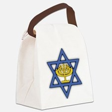 Star of David with Menorah Canvas Lunch Bag