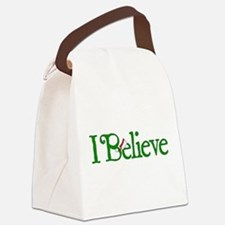 I Believe with Santa Hat Canvas Lunch Bag