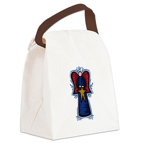 Angel with Star Canvas Lunch Bag