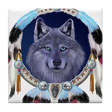 Dream Wolf Tile Coaster