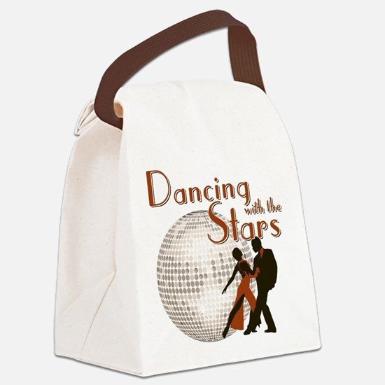 Retro Dancing with the Stars Canvas Lunch Bag
