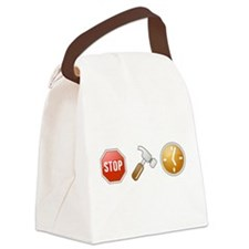 Stop - Hammer - Time Canvas Lunch Bag