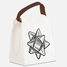 Silver Bow Canvas Lunch Bag