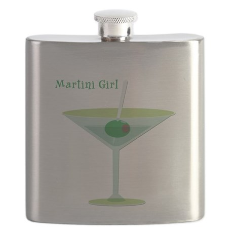Martini Girl Flask