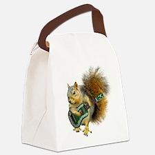 Squirrel Ukulele Canvas Lunch Bag