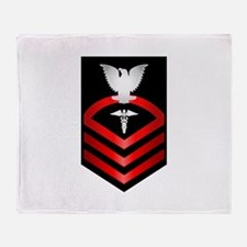 Navy Chief Hospital Corpsman Throw Blanket