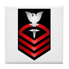 Navy Chief Hospital Corpsman Tile Coaster