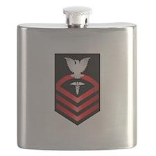 Navy Chief Hospital Corpsman Flask