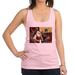 Santa's Border Collie Racerback Tank Top