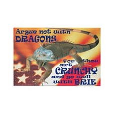Argue NOT with dragons Rectangle Magnet