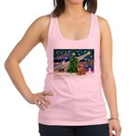 Xmas Magic & Chow Racerback Tank Top