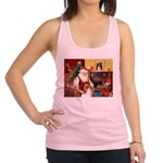 Santa's Collie Racerback Tank Top