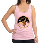 Night Flight/Dachshund #13 Racerback Tank Top