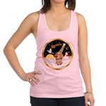 Night Flight/Dachshund #11 Racerback Tank Top