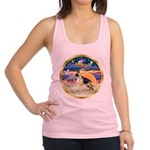 XmasStar/German Shepherd Racerback Tank Top