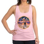 XmasStar/German Shepherd 12 Racerback Tank Top