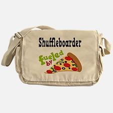 Shuffleboarder Funny Pizza Messenger Bag