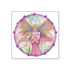"Wildflower Fairy Watercolor Square Sticker 3"" x 3"""