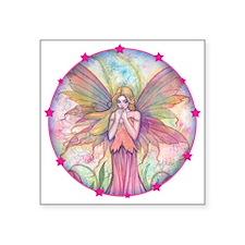 """Wildflower Fairy Watercolor Square Sticker 3"""" x 3"""""""