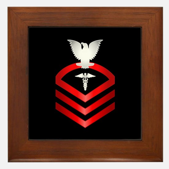Navy Chief Hospital Corpsman Framed Tile