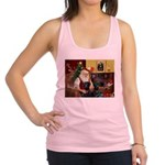 Santa's 2 Black Labs Racerback Tank Top